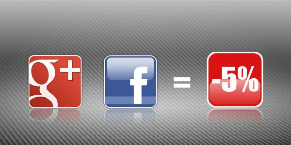 G+ i Facebook=5% popusta